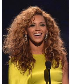 100% Human Hair Trendy Beyonce's Shaggy African American Hairstyle Long Curly Swiss Lace Wig 20 Inches