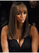 Keri Hilson Long Straight Brown Wig 16 Inches Makes You Differernt