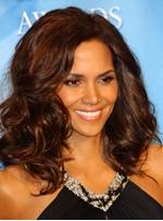 Halle Berry New Fascinating Glamorous Medium Wavy Fluffy Brown Full Lace Wig 100% Human Hair 16 Inches
