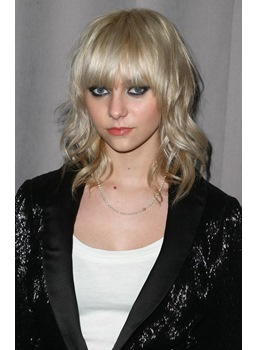 Custom Hip Fascinating Cool Medium Wavy Blonde Wig 12 Inches