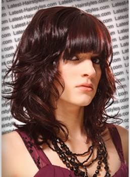 Hand Tied Hip Medium Wavy Dark Auburn Wig 100% Human Hair 14 Inches Makes You More Charming
