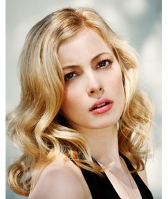 Gillian Jacobs Long Wavy Human Hair Full Lace Wigs 16 Inches