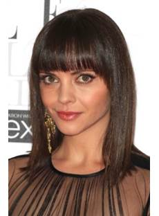 Hot Sale Fascinating Inexpensive Medium Straight Brown Wig 12 Inches