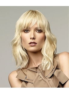 Super Charming Hairstyle Carefree Medium Straight Blonde Wig 14 Inches