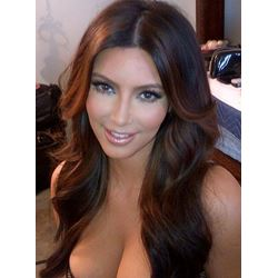100% Human Hair Custom Tailored High Quality Amazing Shining Long Wavy Brown Full Lace Wig 20 Inches