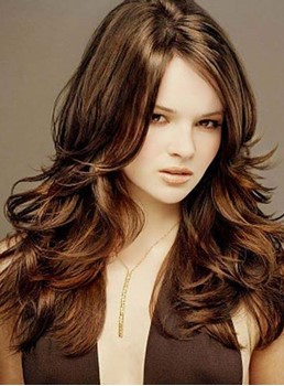 Hip Amazing Gorgeous Long Wavy Lace Wig 100% Human Hair 18 Inches