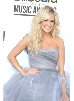 Hot Glamorous Sexy Long Wavy Blonde Lace Wig 100% Human Hair 20 Inches Makes You Stand Out
