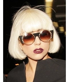 Cool Gorgeous Lady Gaga Hairstyle Short Straight Bob Wig 100% Human Hair 8 Inches Seize It