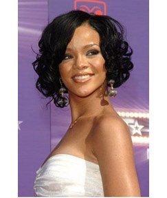 Super Sexy Rihanna Most Popular Hairstyle 10 Inches Lace Front 100% Human Hair Wig