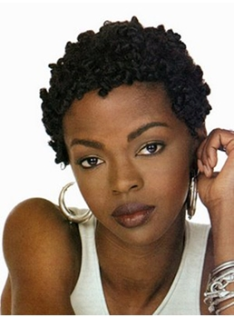 African American Hairstyle Short Curly Full Lace Wigs Human Hair Wigs