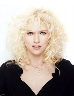 New Stylish Charming Medium Wavy Lace Wig 100% Human Hair 16 Inches Makes You More Fascinating