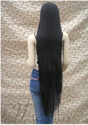 Hot SaleTop Quality So Lovely Black Halloween Wig