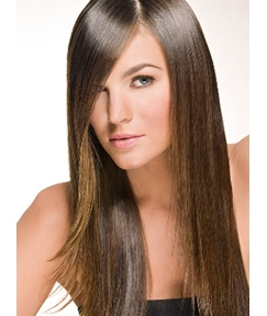New Fashion Carefree Sexy Long Straight Brown Lace Wig 100% Human Remy Hair 20 Inches
