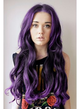 Hot Sale Top Quality Amazing Long Wavy Purple Wig for Cosplay
