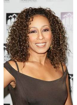New Chic Sexy African American Hairstyle Medium Curly Brown Lace Wig 100% Human Hair 16 Inches Makes You More Amazing