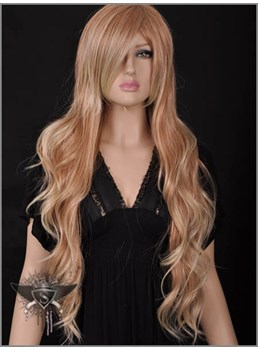 Cheap New Sexy Cosplay Long Loose Wavy Strawberry Blonde Wig 26 Inches Makes You More Dramatic