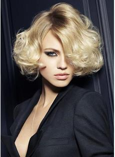 Top Quality Sexy Soft Short Wavy Wig 10 Inches for Office Lady