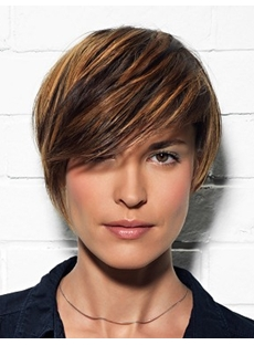 New Chic Carefree Short Straight Wig for Office Lady