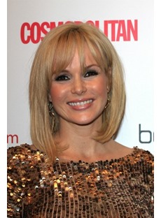 Bob Hairstyle Top Quality Custom Heat Resistant Wig Blonde 12 Inches Silky Straight