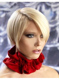 Perfect Carefree Synthetic Hair Celebrity Hairstyle Short Straight Lace Front Wigs 6 Inches