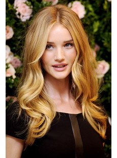 Beautiful Top Quality Synthetic Custom Full Front Lace Wig 18 Inches Wavy