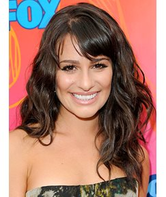 Lea Michele Hairstyle Capless Synthetic Wigs 18 Inches Wavy