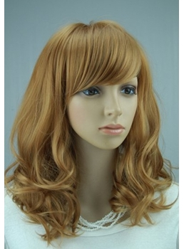 Hot Sale Top Quality Lovely Medium Wavy Strawberry Blonde Wig 16 Inches  Makes You More Charming 598b42e2c