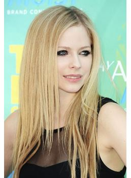 Avril Lavigne Hairstyle Beautiful Custom Synthetic Lace Wig 18 Inches Straight