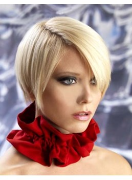 Perfect Carefree Celebrity Hairstyle Short Straight Monofilament Top Wig