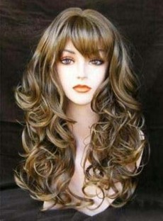 New Sexy Fasinating Long Wavy Mixed Brown Wig 22 Inches Take It