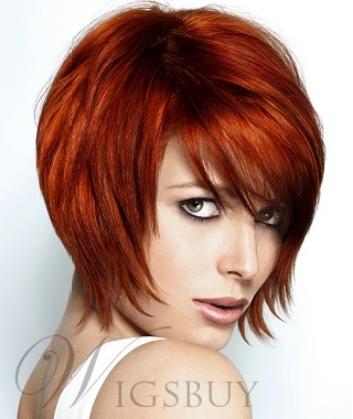 Short Layered Cut Straight Wig 10 Inches Makes You More Fascinating