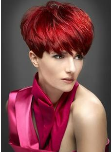 Boycut Short Straight Synthetic Capless Women Wigs