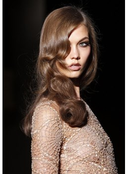 Karlie Kloss Hairstyle Top Quality Custom Lace Wig Makes You Beautiful 18 Inches Wavy