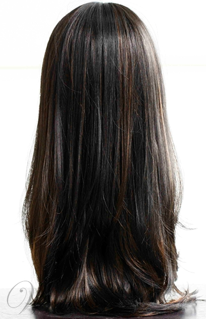 Hot Sale Top Quality Elegant Long Straight Brown Wig 24 Inches
