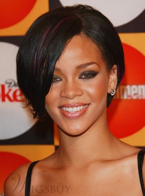 Fresh Definition Bob Hairstyle Smart Short Straight Lace Wig with Highlights100% Human Hair 8 Inches