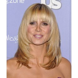 100% Indian Human Hair Beautiful Glamorous Easily Done Long Straight Blonde Wig 14 Inches