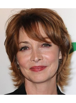 Short Straight Natural Wave Synthetic Capless Wigs for Older Women