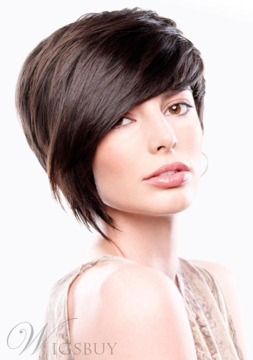 New Fashion Meticulously-designed Soft Short Layered Straight Wig 100% Human Hair