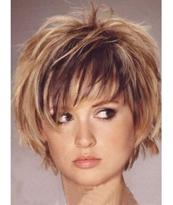 New Fashion Cute Charming Short Layered Bob Straight 8 Inches Wig 100% Human Hair