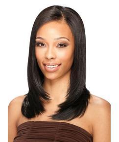 Boutique Graceful Medium Kinky Straight Full Lace Wig 100% Human Hair 16 Inches