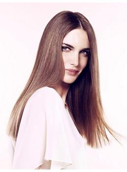 New Arrival Carefree Long Silky Straight Full Lace Wig 100% Human Hair 18 Inches
