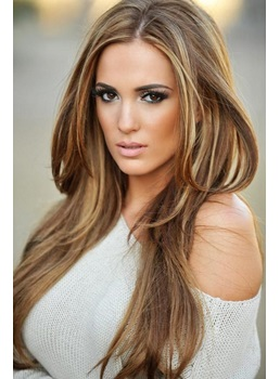 Top Quality Romantic Hairstyle Long Straight Full Lace Wig 100% Human Hair 22 Inches