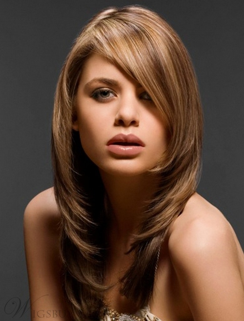 New Arrival Graceful Long Straight Bob Lace Wig 100% Human Hair 18 Inches for Noble Lady