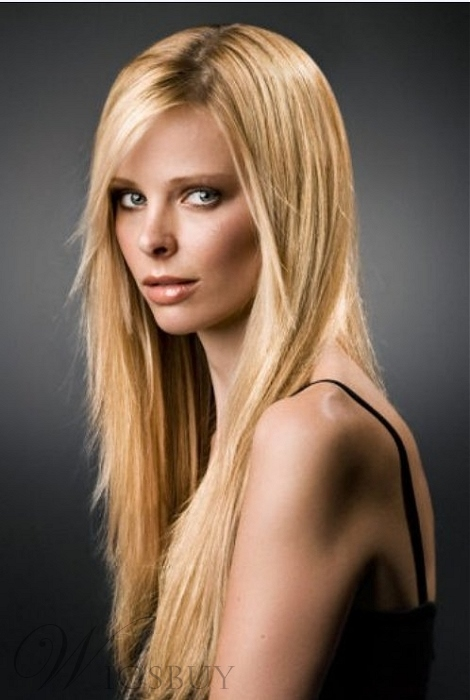 New Fashion Glamorous Carefree Long Layered Straight Lace Wig 20 Inches