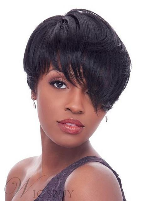 New Fashion Super Short Straight Full Lace Wig with Specially Designed Fringe 100% Human Hair