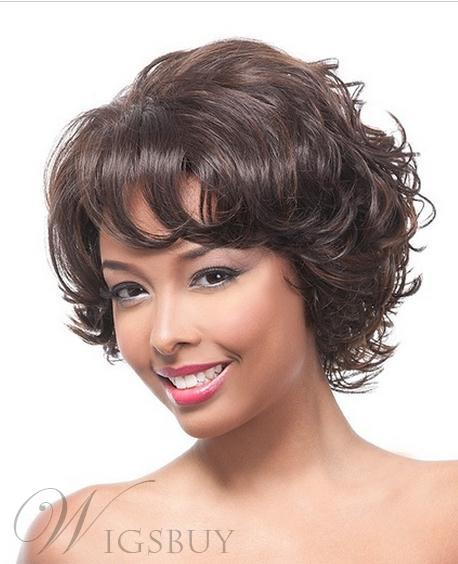 New Arrival Elegant Charming Short Curly Layered Custom Wig 100% Human Hair