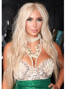 Synthetic Hair Lace Front Wig 24 Inches Kim Kardashian Hairstyle Top Quality