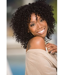 Jennifer Hudson Custom African American Celebrity Hairstyle Full Lace Wig 100% Human Hair 18 Inches