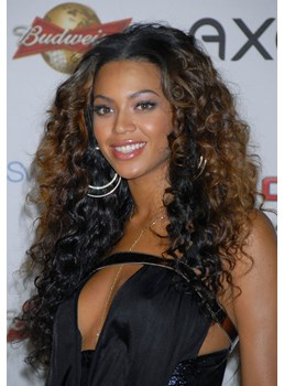 Beyonce Hairstyle 100% Indian Remy Hair Full Lace Wig 22 Inches Curly Stylish