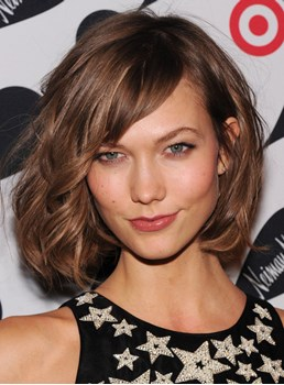 100% Indian Hair Full Lace Wig Karlie Kloss New Haircut 10 Inches